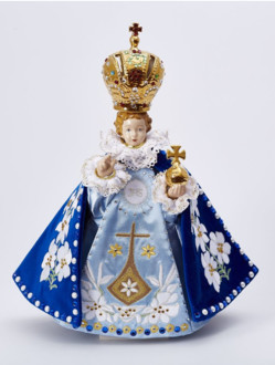 Pražské Jezulátko porcelánové oblečené 34,5cm / 13.58in - Karmel