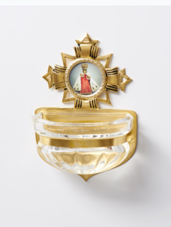 Kropenka kovová s Pražským Jezulátkem - malá č. 2 - zlatá
