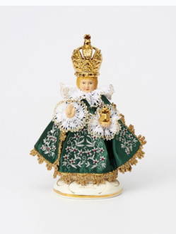 Infant Jesus of Prague Ceramic Clothed – mini 19cm/7.48in