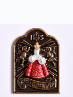 Magnetic Infant Jesus Tag - Red