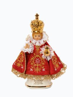 Infant Jesus of Prague Ceramic Clothed – Micro 16cm/6.30in