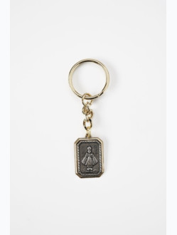 Yellow Infant Jesus of Prague Key Chain