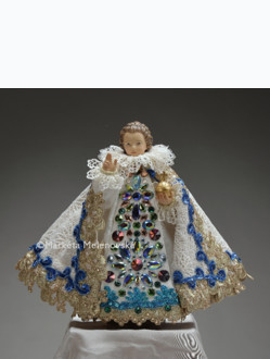 Šaty umělecké 26cm / 10.24in (na dřevěnou sošku Jezulátka 35cm / 13.78in) - kolekce bílá