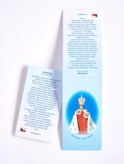 Magnetická záložka Pražské Jezulátko s modlitbou - česky