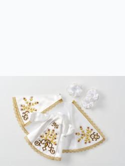 Šaty 14cm / 5.51in (na pryskyřicovou sošku Pražského Jezulátka 19cm / 7.48in) - bílé