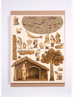 Betlém dřevěný velký