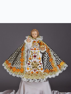 Art Dress 43cm / 16.93in (Designed for Infant Jesus Wooden Statue 52cm / 20.47in) - White Collection