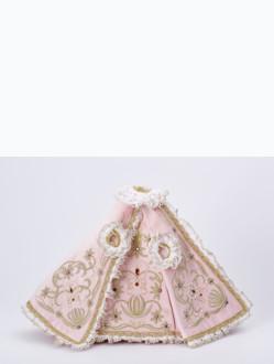 Šaty 26cm / 10.24in (na dřevěnou sošku Pražského Jezulátka 35cm / 13.78in) - růžové