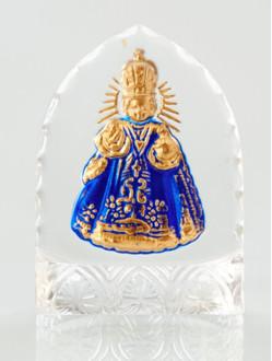 Křišťálový stojánek gotický – mini-modrý