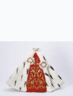 Šaty 40cm / 15.75in (na pryskyřicovou sošku Pražského Jezulátka 48cm / 18.89in) – královské