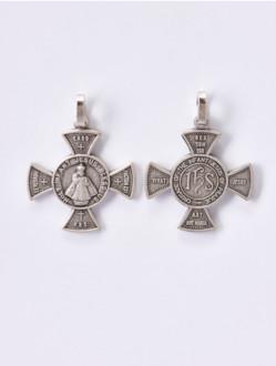 Přívěsek Kovový – Pražské Jezulátko - Ochranný Kříž Malý-Tmavý