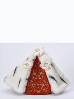 Šaty 21cm / 8.27in (na sošku Pražského Jezulátka porcelánovou 34,5cm / 13.58in a pryskyřicovou 24cm / 9.45in) - královské