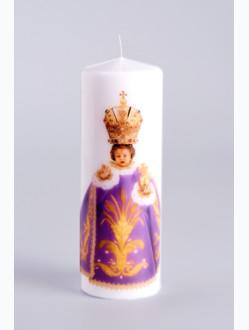 Svíce tištěná - malá 10cm / 3.94in -fialová