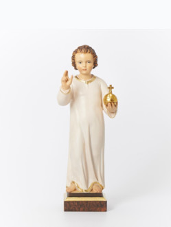 Infant Jesus of Prague Wooden Statue 23cm/9.06in – Dark