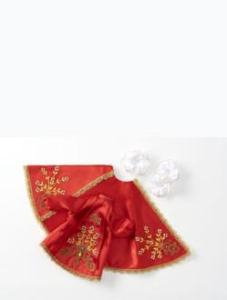 Šaty 14cm / 5.51in (na pryskyřicovou sošku Pražského Jezulátka 19cm / 7.48in) - červené