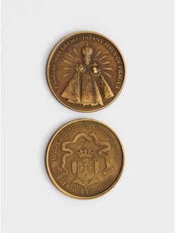 Dark Infant Jesus/Coat-of-Arms Brass Coin