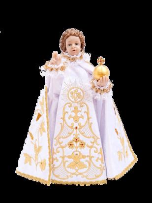 ! SLEVA ! Pražské Jezulátko pryskyřicové oblečené – Kopie 48cm/18.89in - bílé - vzor IHS ( původní cena 37 550 Kč )