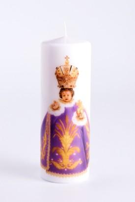 Svíce tištěná velká - fialová