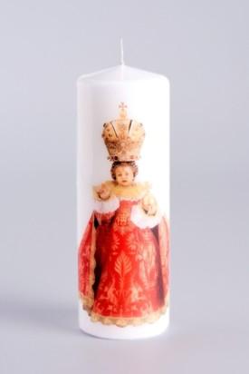 Svíce tištěná - malá 10cm / 3.94in - červená