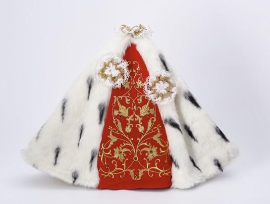 Šaty 35cm / 13.78in (na porcelánovou sošku 57cm / 22.44in) - královské
