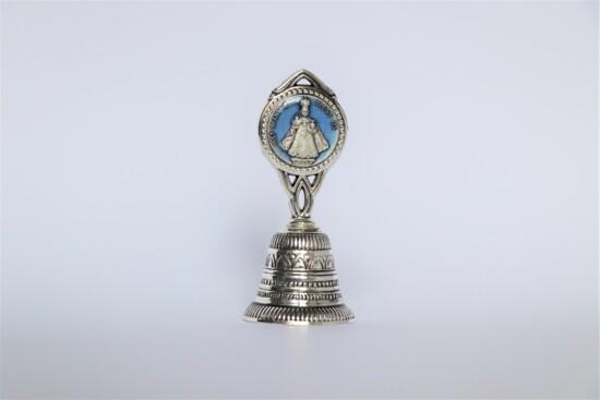 Kovový ruční zvonek s Jezulátkem (Francie)