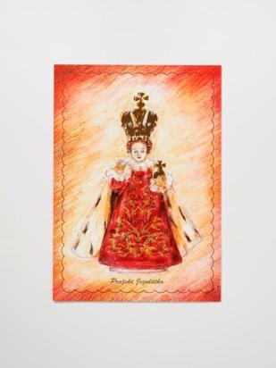 Pohled Pražské Jezulátko malovaný – královský