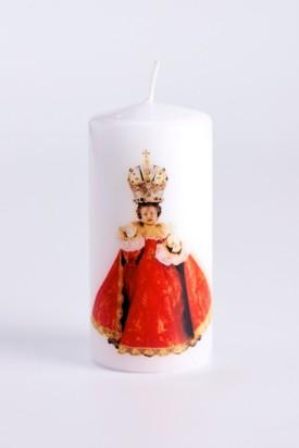 Svíce tištěná - střední - červená