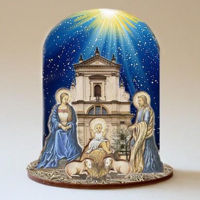 Betlém dřevěný / Kostel Pražského Jezulátka - malý
