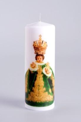 Svíce tištěná - malá 10cm / 3.94in - zelená
