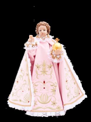 Pražské Jezulátko pryskyřicové oblečené – Kopie 48cm/18.89in - růžové