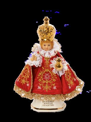 Pražské Jezulátko Keramické Oblečené – Mikro 16cm/6.30in