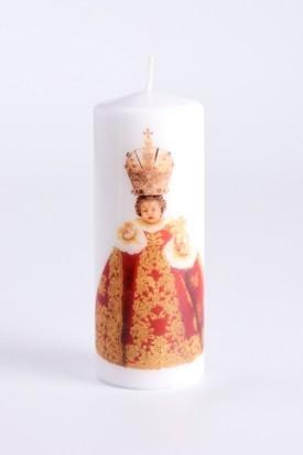 Svíce tištěná - střední - vínová