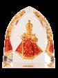 Křišťálový stojánek gotický – červený