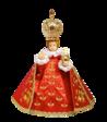 Pražské Jezulátko pryskyřicové oblečené 37,5cm/14.76in - červené
