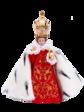 Pražské Jezulátko pryskyřicové oblečené – zmenšená Kopie 24cm / 9.45in s keramickou korunou - královské
