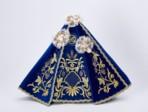 Šaty 39cm / 15.35in (na dřevěnou sošku Pražského Jezulátka 52cm / 20.47in) – modré