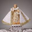 Šaty umělecké 43cm / 16.93in (na dřevěnou sošku Jezulátka 52cm / 20.47in) - kolekce bílá