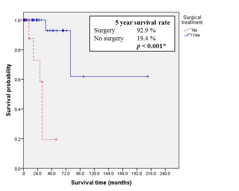 km curve for surgery in thymic tumors.jpg