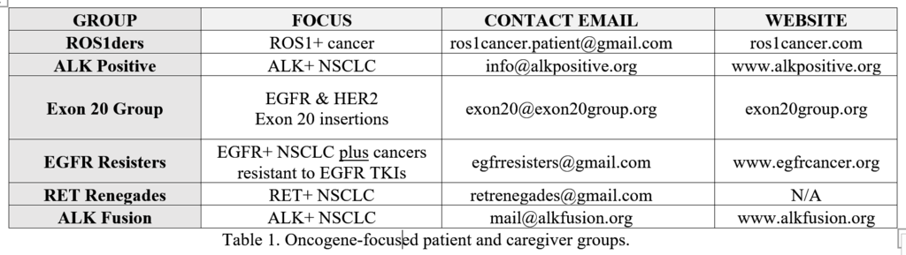 table 1 oncgene-focused patient and caregiver groups..png