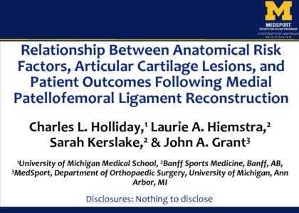 P125 - Relationship Between Anatomical Risk Factors, Articular ...