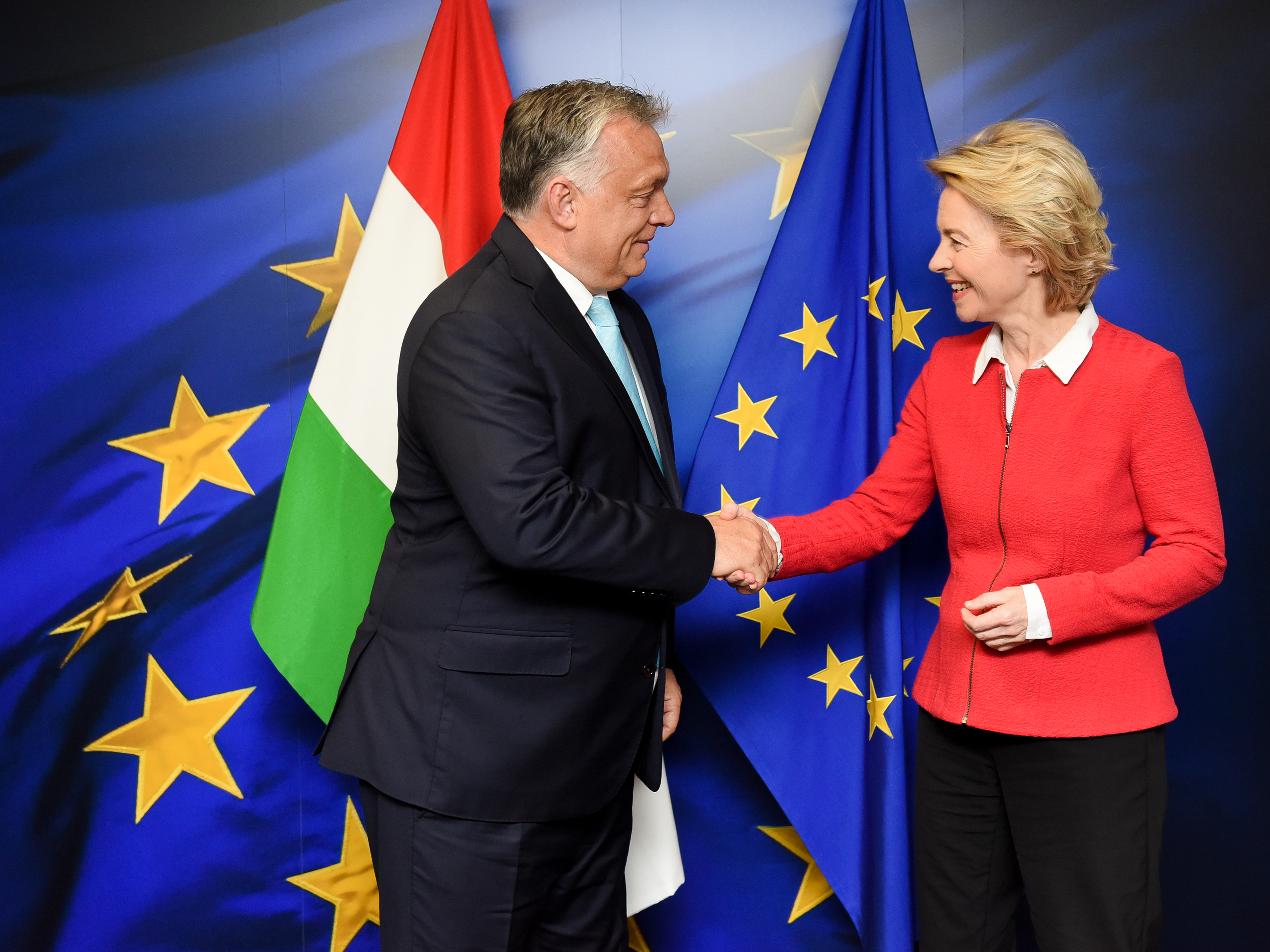 Orban praises von der Leyen after first face-to-face
