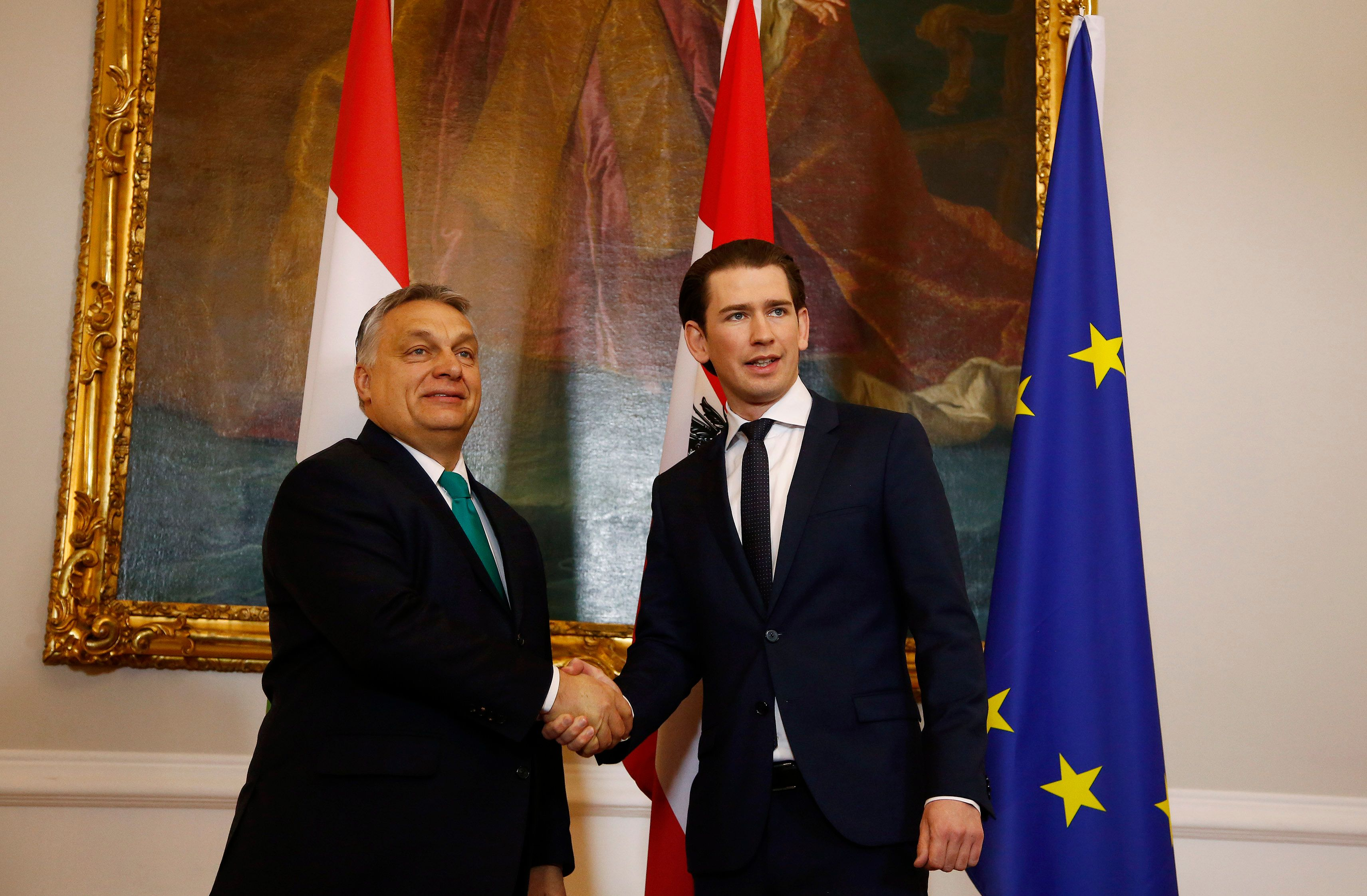 Austria's right-wing government pledges to work with Hungary's Orban