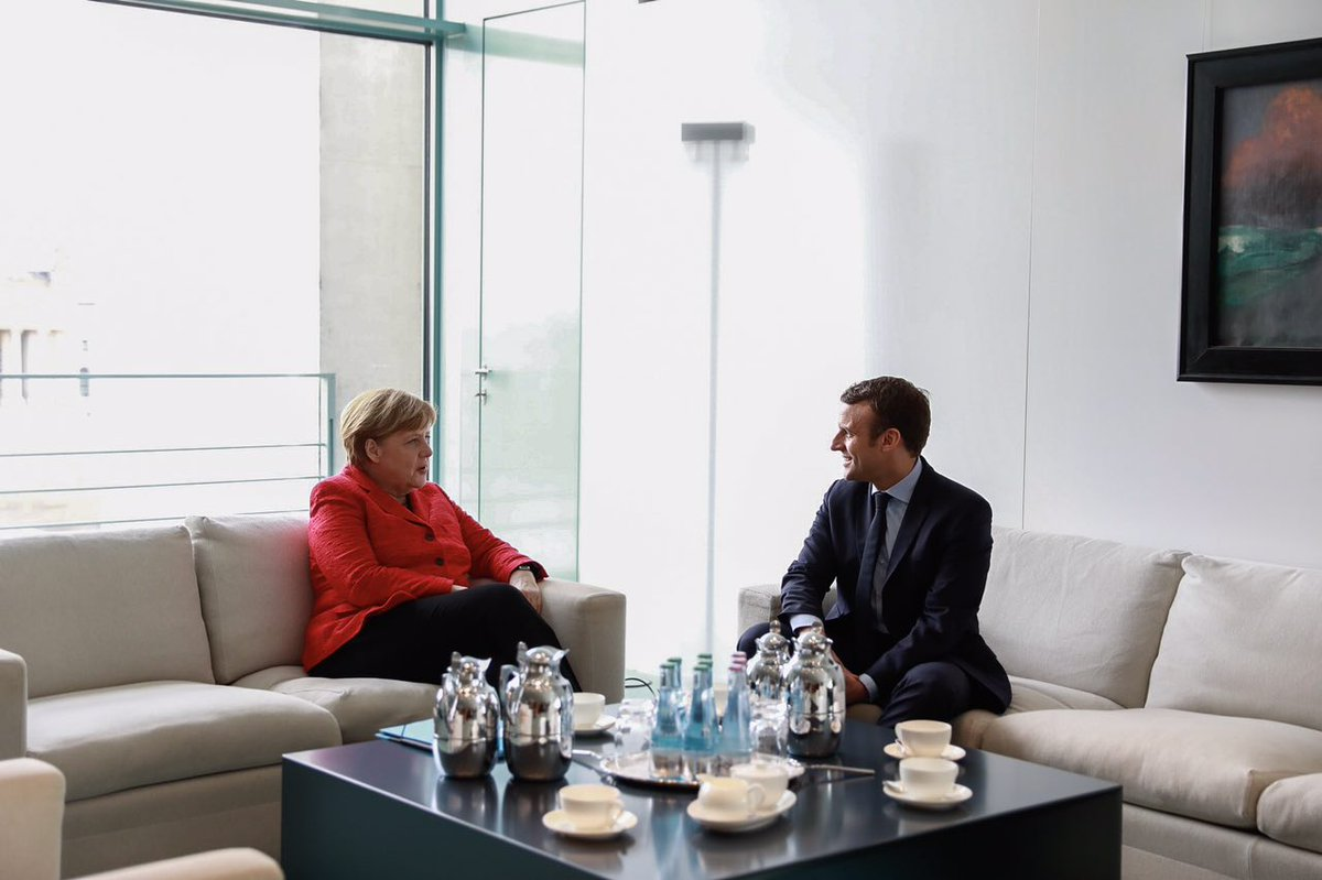 Image result for makron and merkel