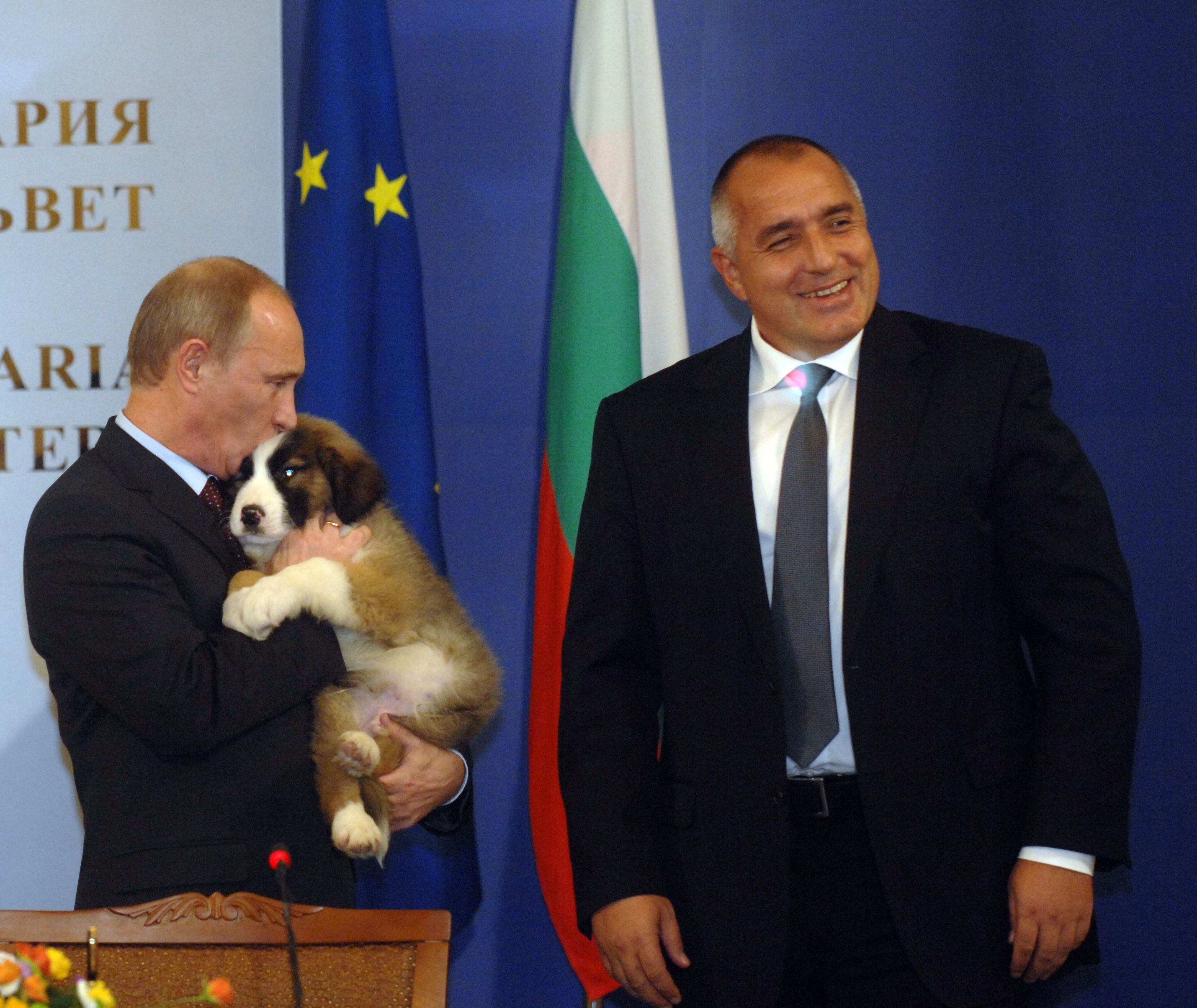 26ac75620 Putin leaves Bulgaria with a gas deal and a new puppy