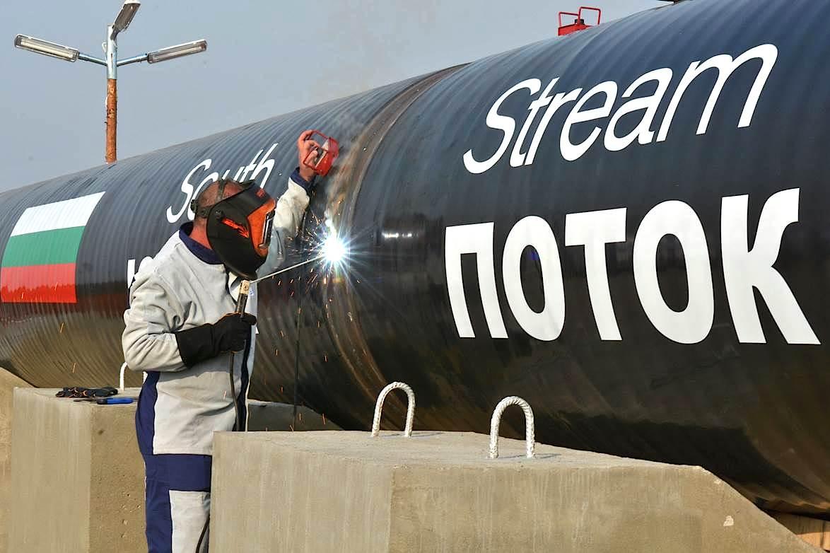 Bulgaria freezes work on South Stream pipeline