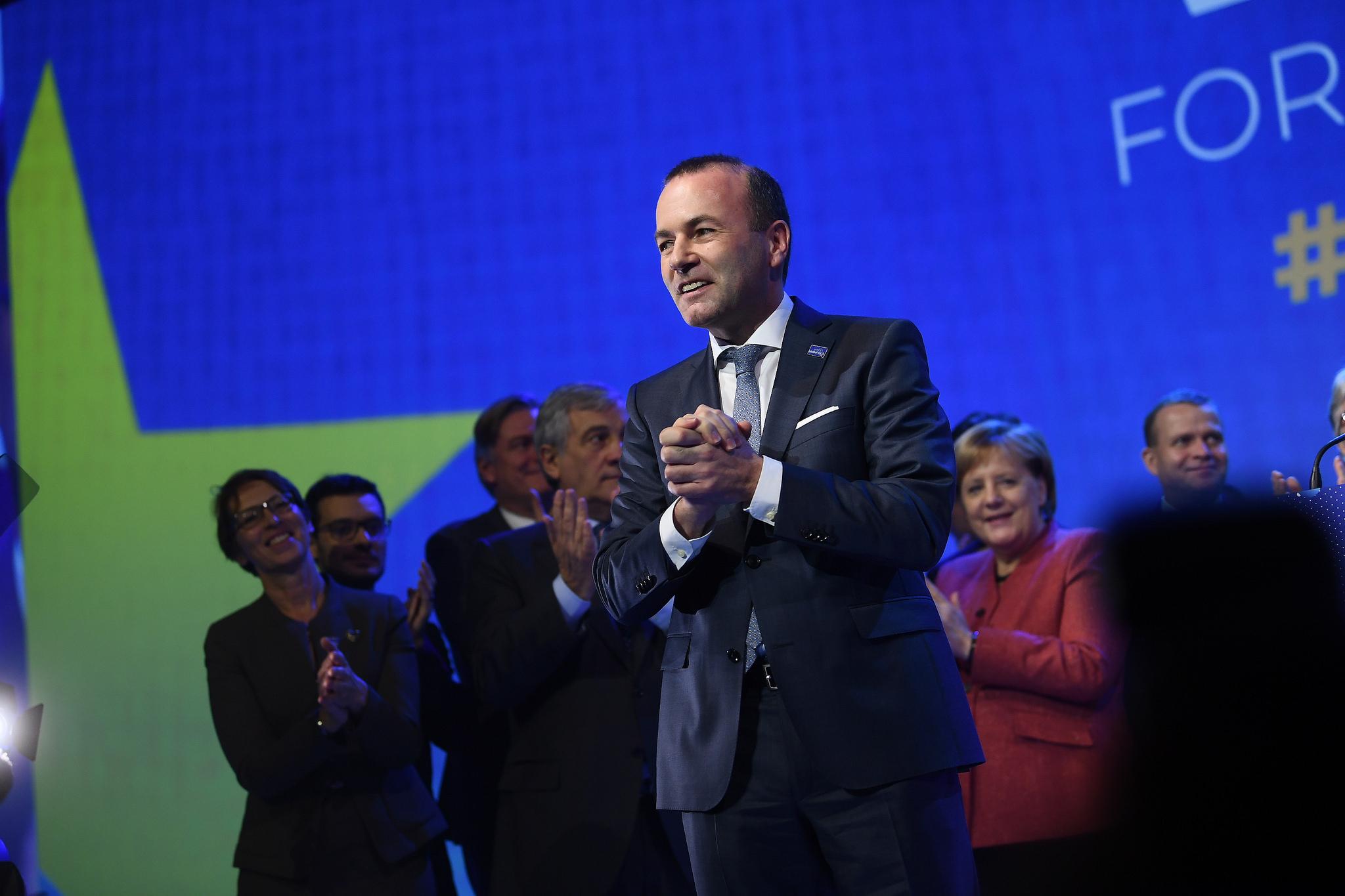 EU's centre-right make Weber their man to replace Juncker