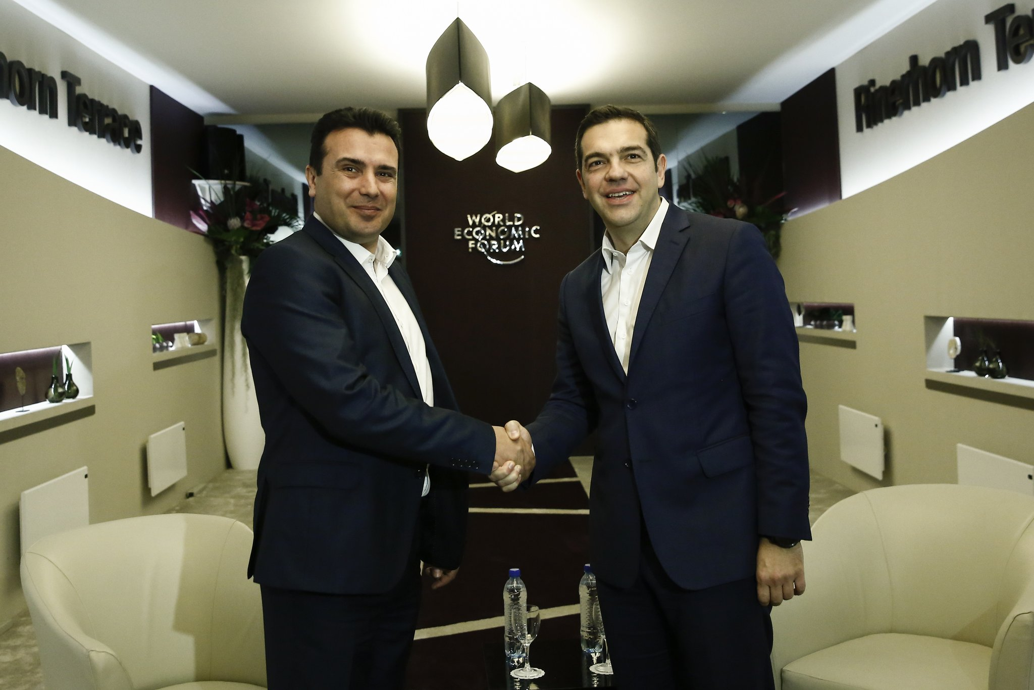 Zaev and Alexis Tsipras in run-up to the deal