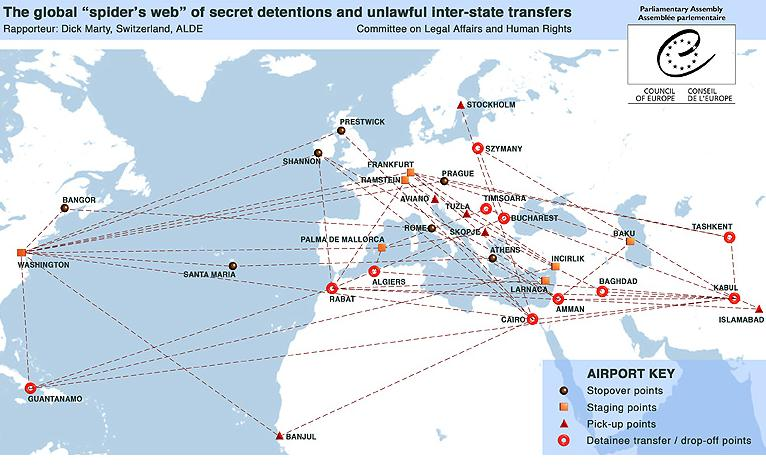 Former Polish Leaders Could Face Charges Over CIA Prisons - Map of us over europe