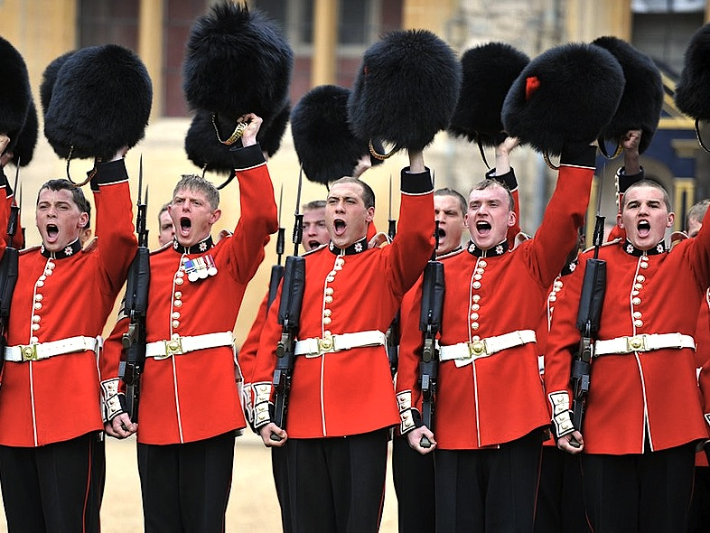 Image result for british soldiers cheering