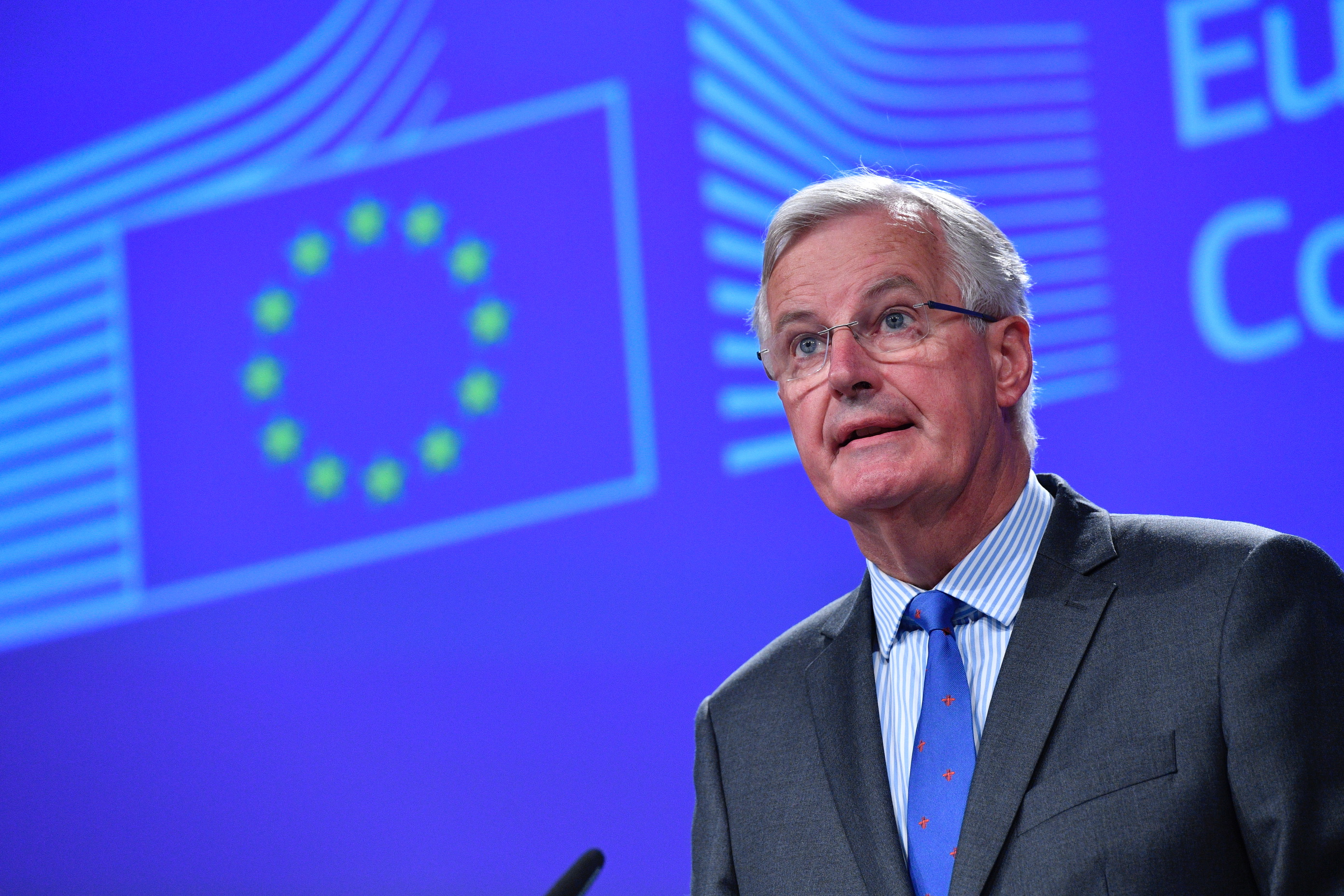 Barnier slams UK's position on Irish border